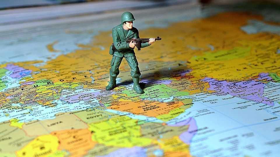 солдат, карта, ближний восток