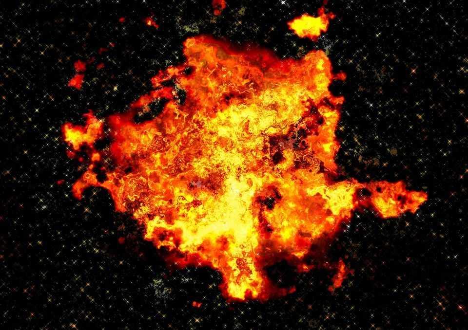огненный шар, взрыв, катастрофы