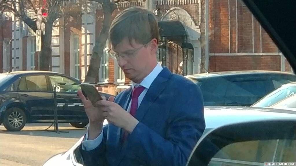 Вадим Андреев «за работой»