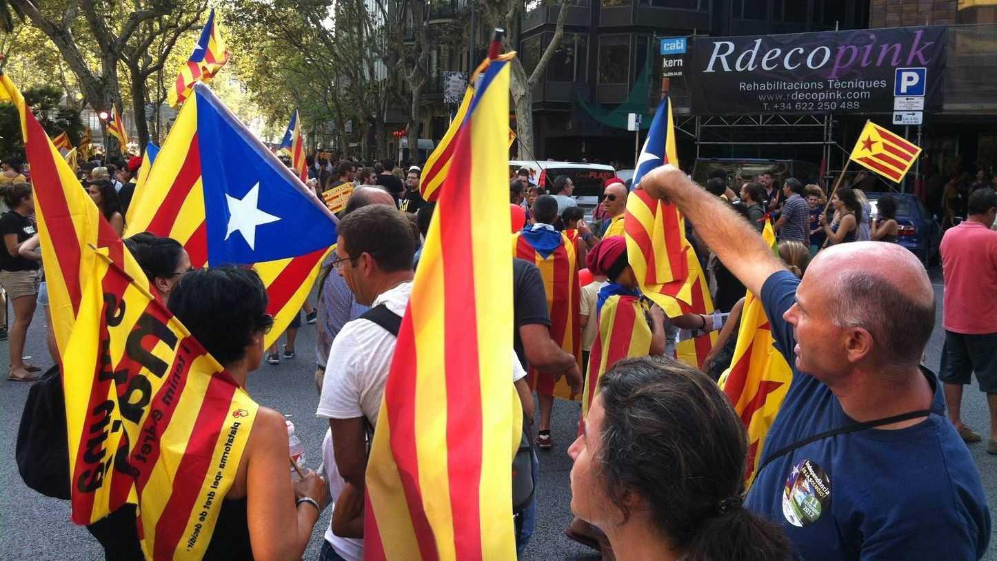 Сторонники независимости Каталонии