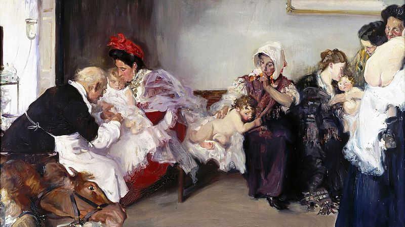 Висенте Боррас. Вакцинация. 1867