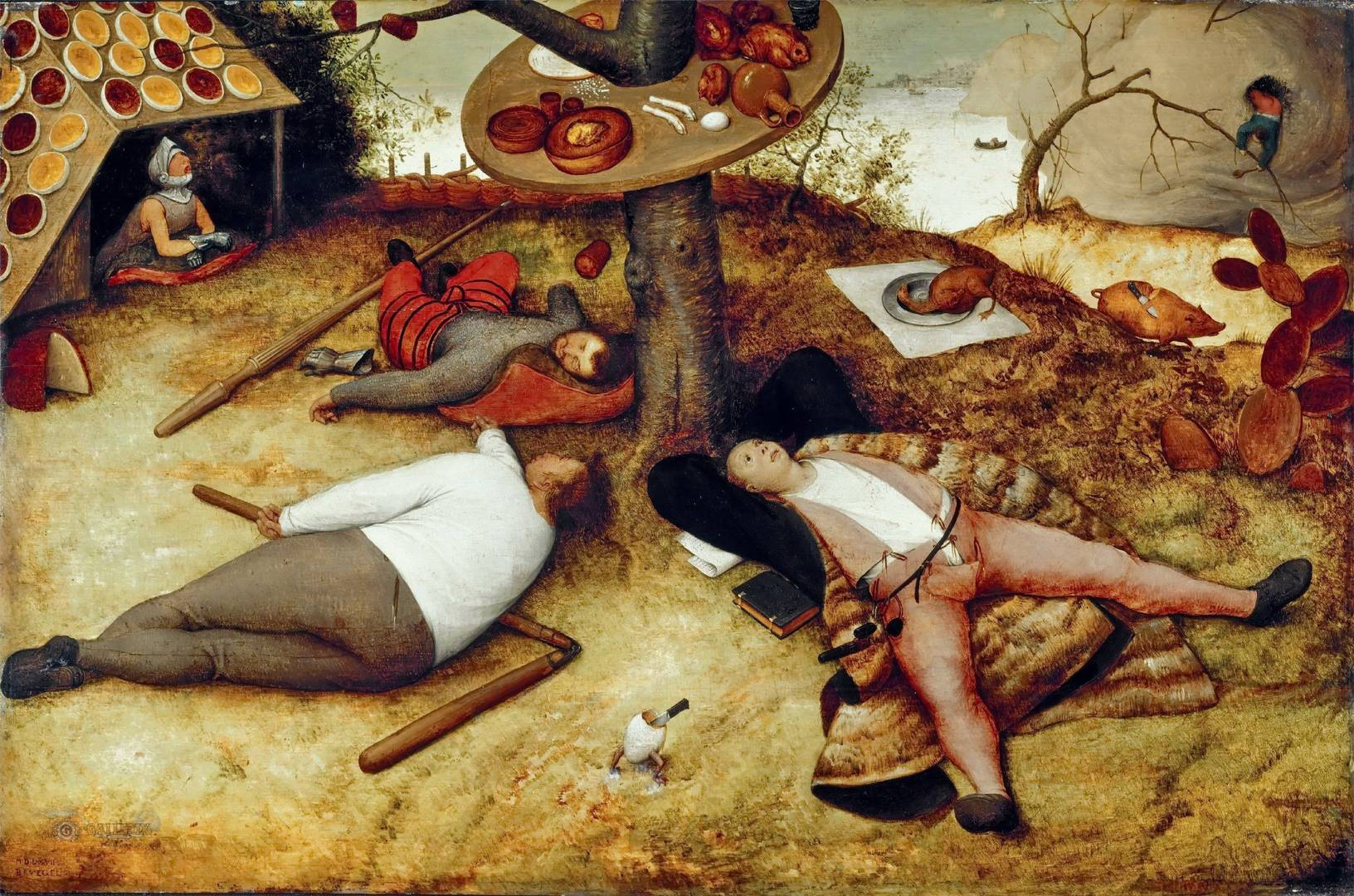 Питер Брейгель. Страна лентяев. 1567.