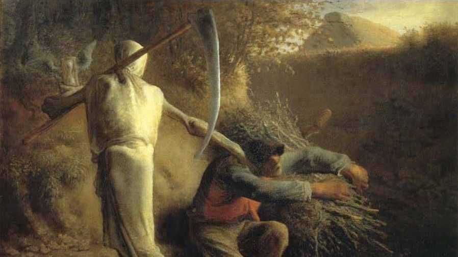 Жан-Франсуа Милле. Смерть и дровосек. 1859
