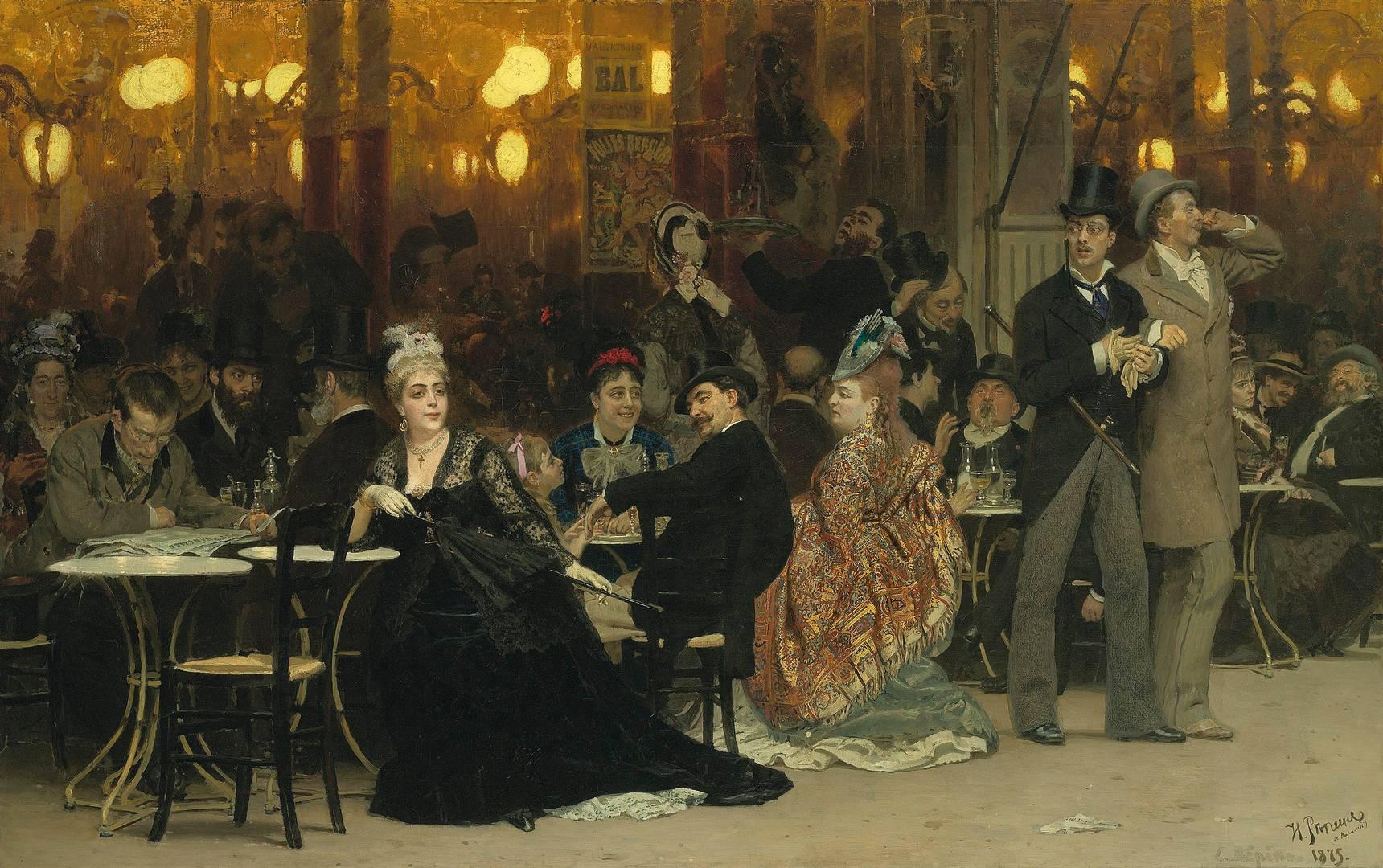 Илья Репин. Парижское кафе. 1885