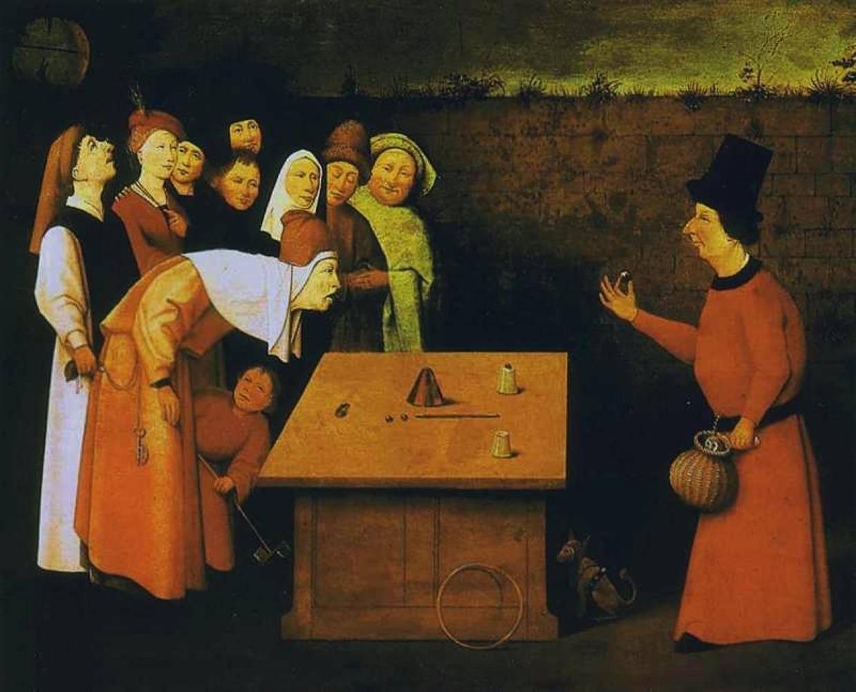 Иероним Босх. Фокусник. 1475-1480