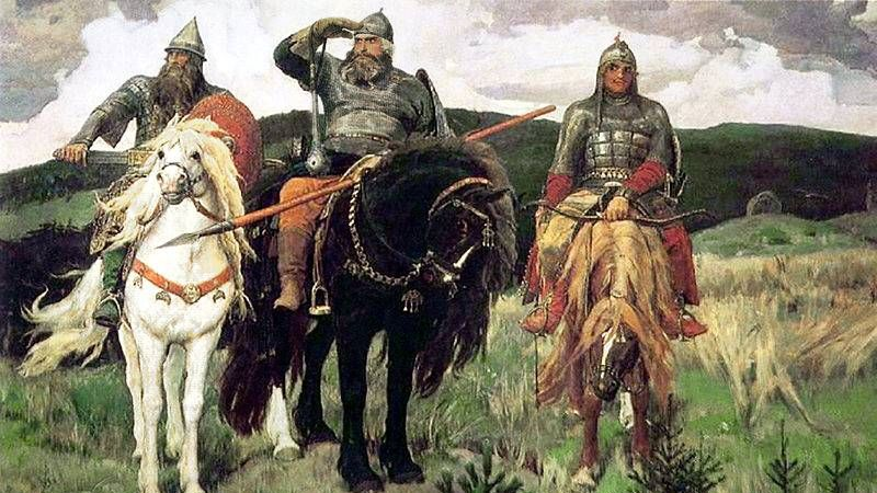 Виктор Васнецов. Три богатыря (фрагмент). 1881-1898.