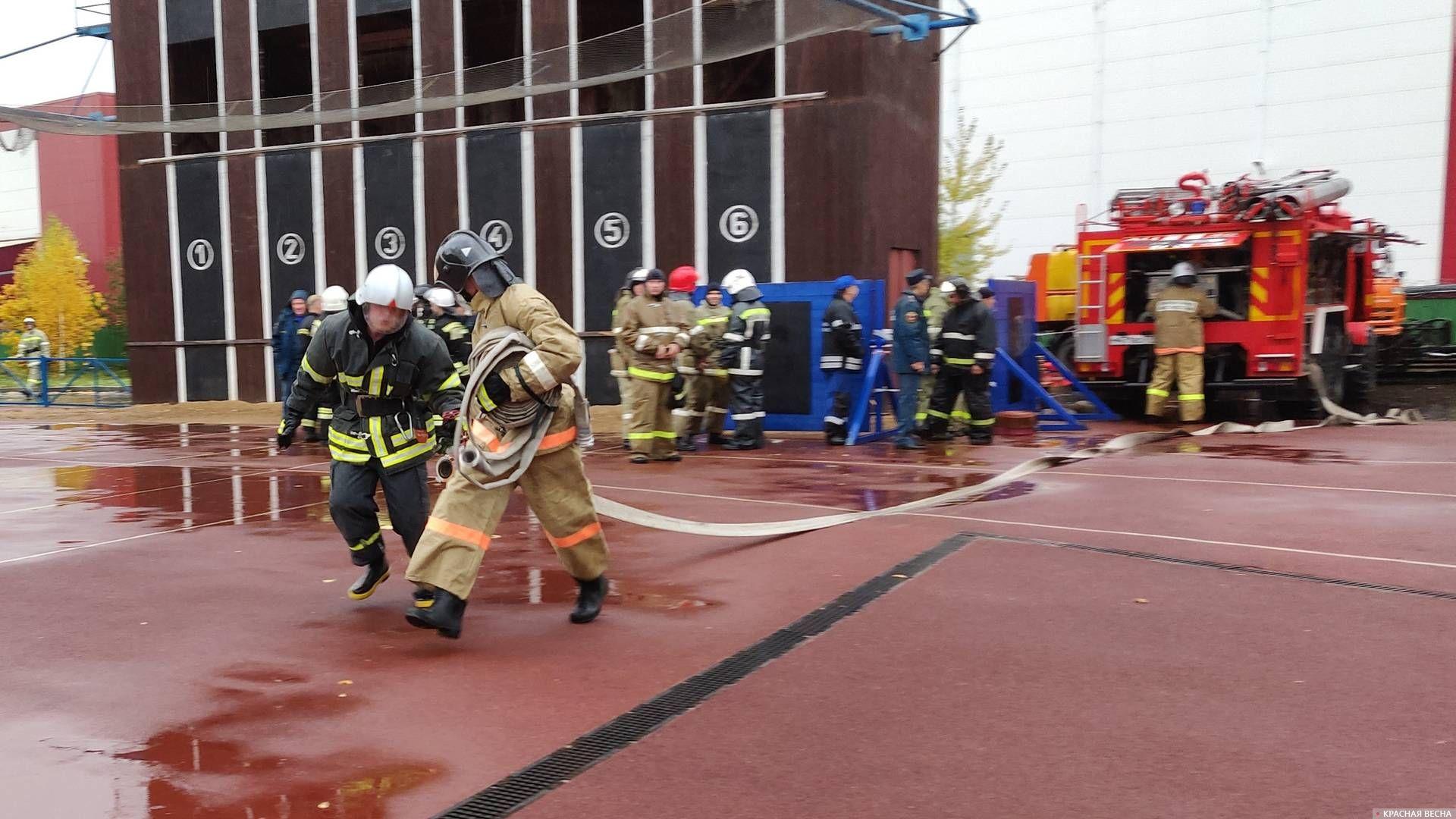 Развертывание рукавной линии пожаротушения