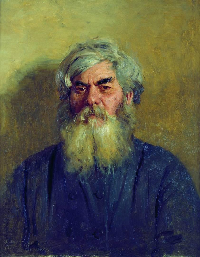 Илья Репин. Мужик с дурным глазом. 1877