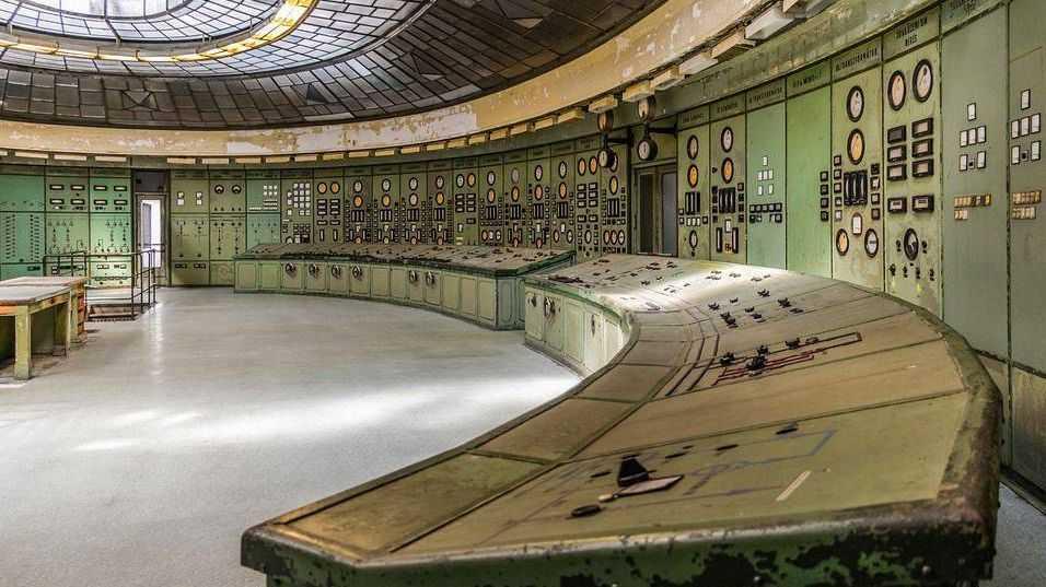 Комната управления электростанцией
