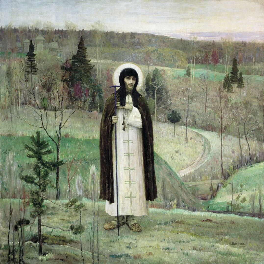 Нестеров Михаил. Преподобный Сергий Радонежский. 1899