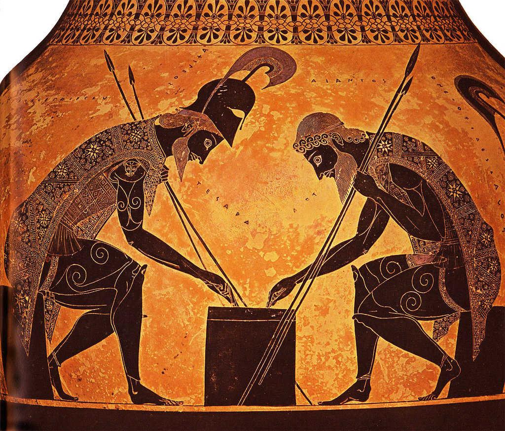 Ахилл и Аякс играют в настольную игру