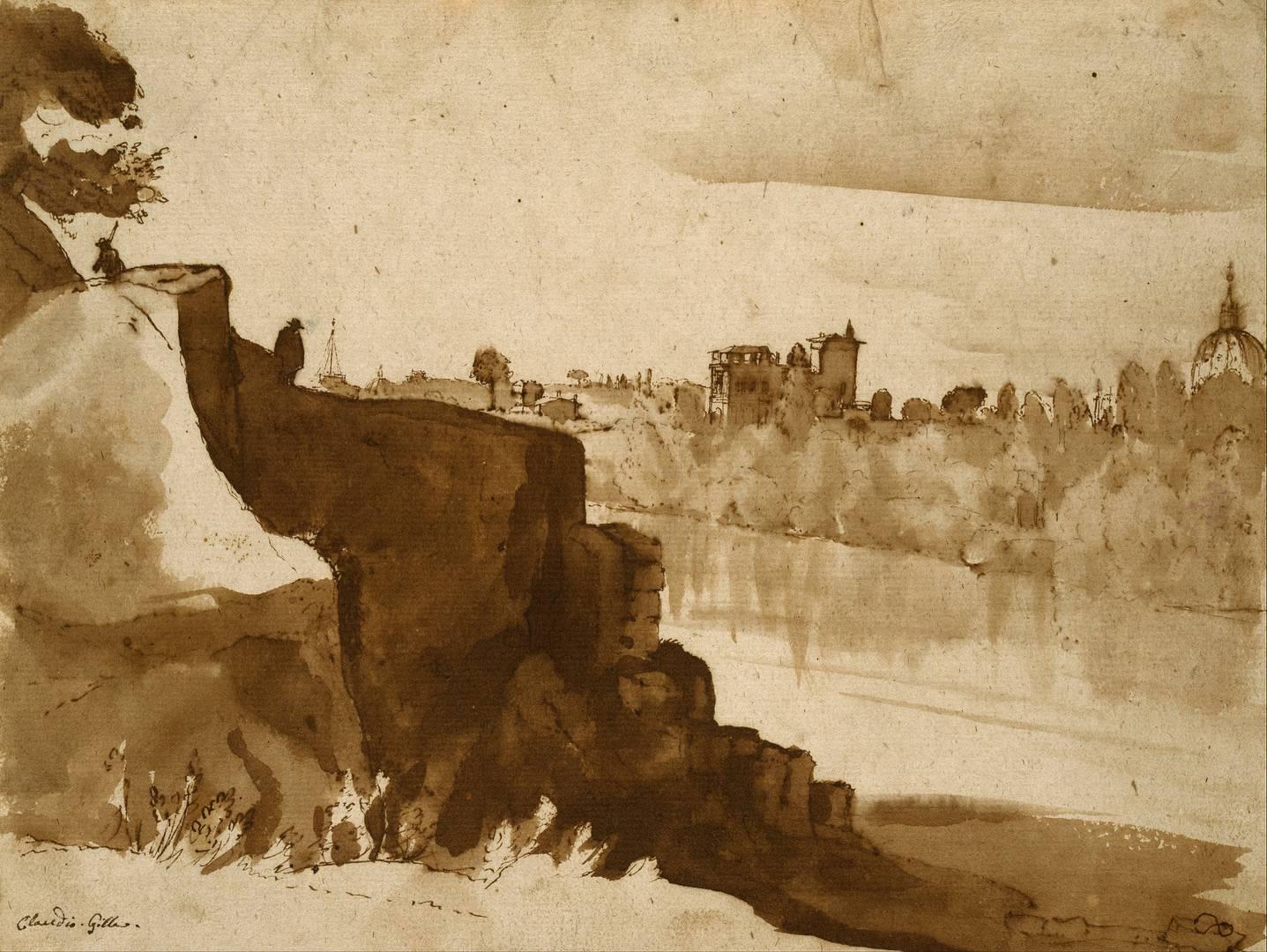 Клод Лоррен. Тибр в Риме. 1635–1640