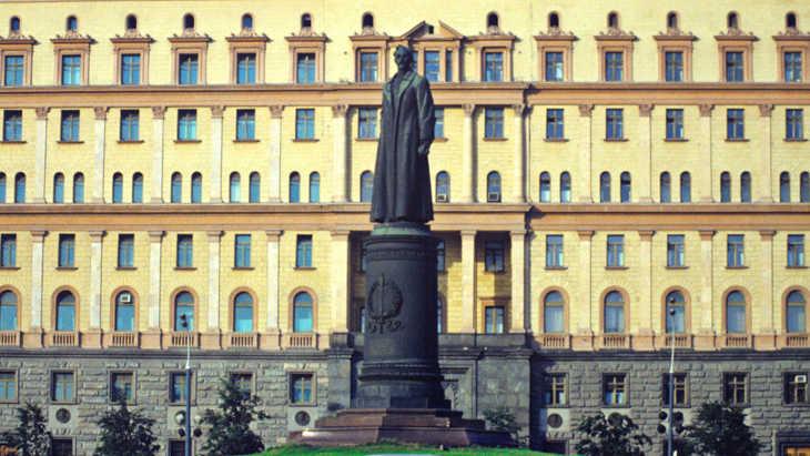 Памятник Дзержинскому на Лубянке, до 1991 года