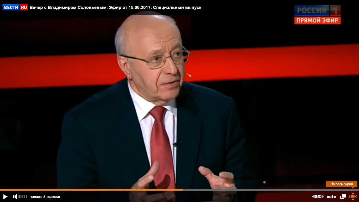 Сергей Кургинян на передаче