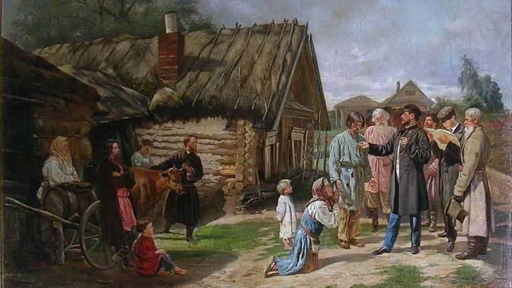 Василий Владимирович Пукирев. Сбор недоимок. 1875