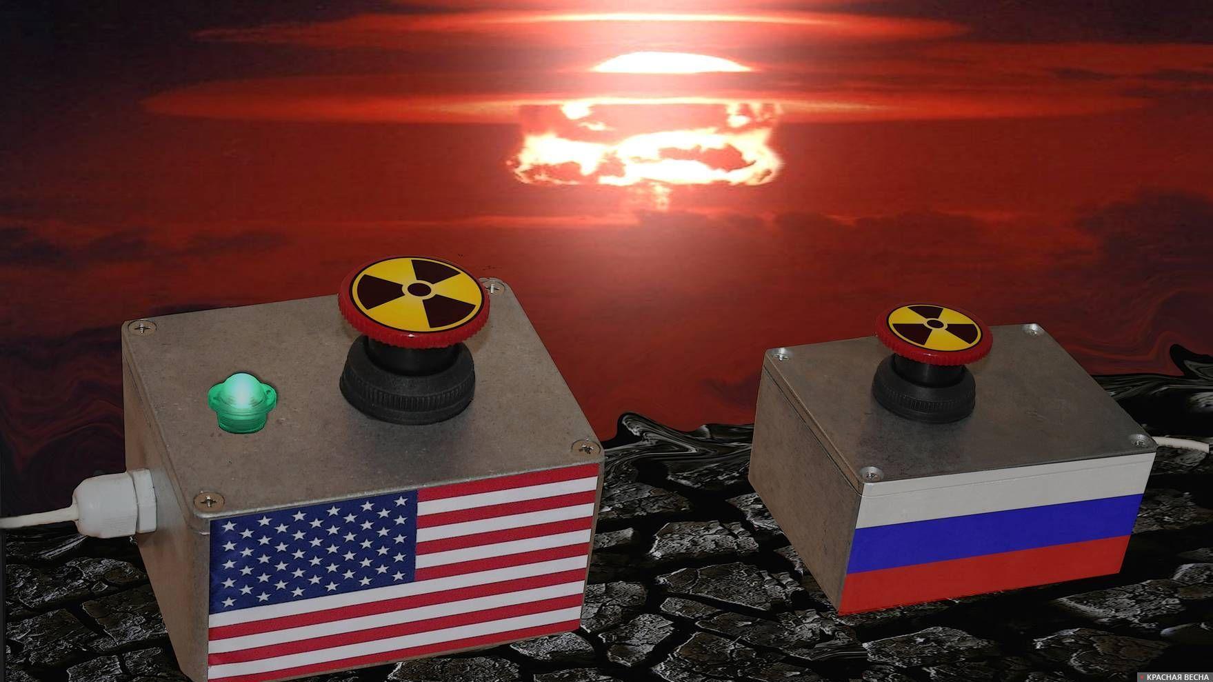 Атомная война. Ядерная кнопка США. Россия. РФ