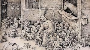 Питер Брейгель Старший. Осел в школе. 1556