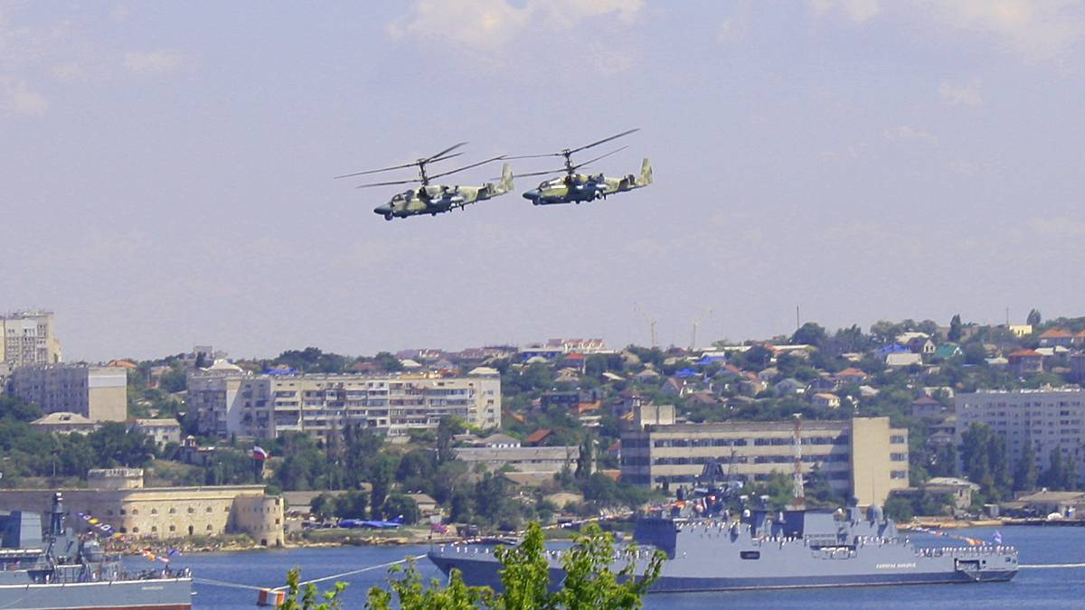 Ка-52 «Аллигатор», парад ВМФ 28.07.2019 г. Севастополь