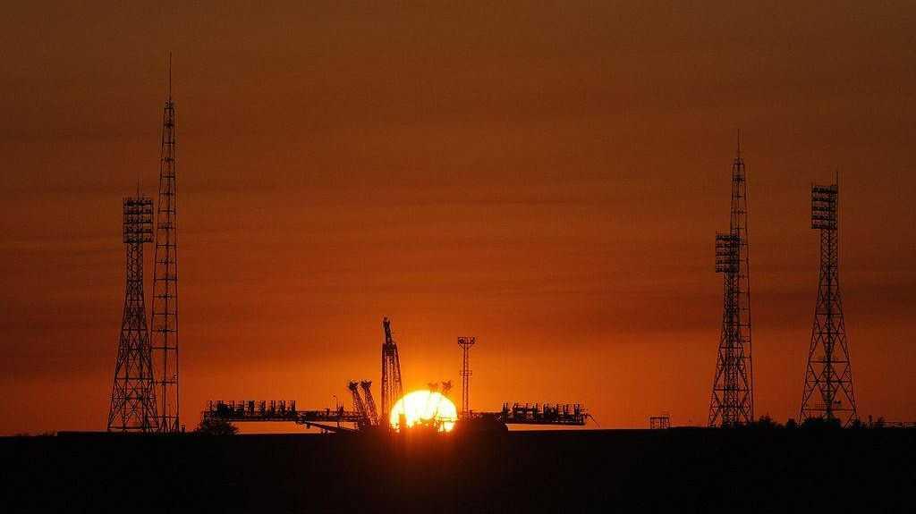 Космодром Байконур на закате