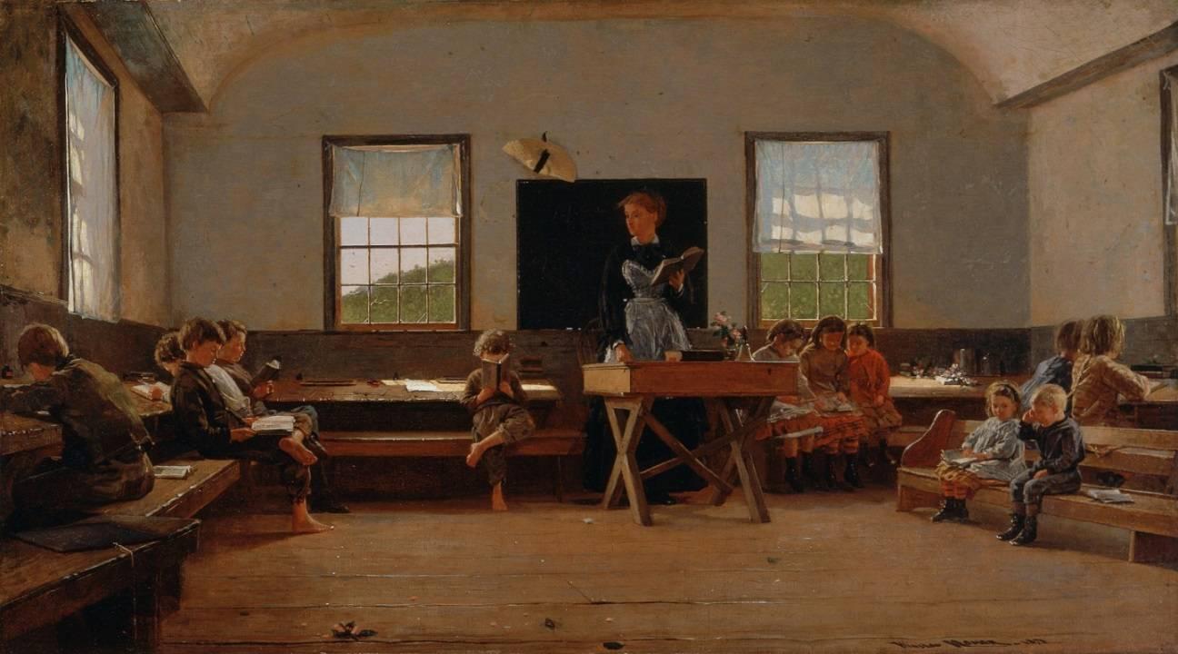 Уинслоу Хомер. Школа в провинции. 1871