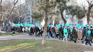 Шествие обманутых дольщиков в Ростове-на-Дону 10.12.2017