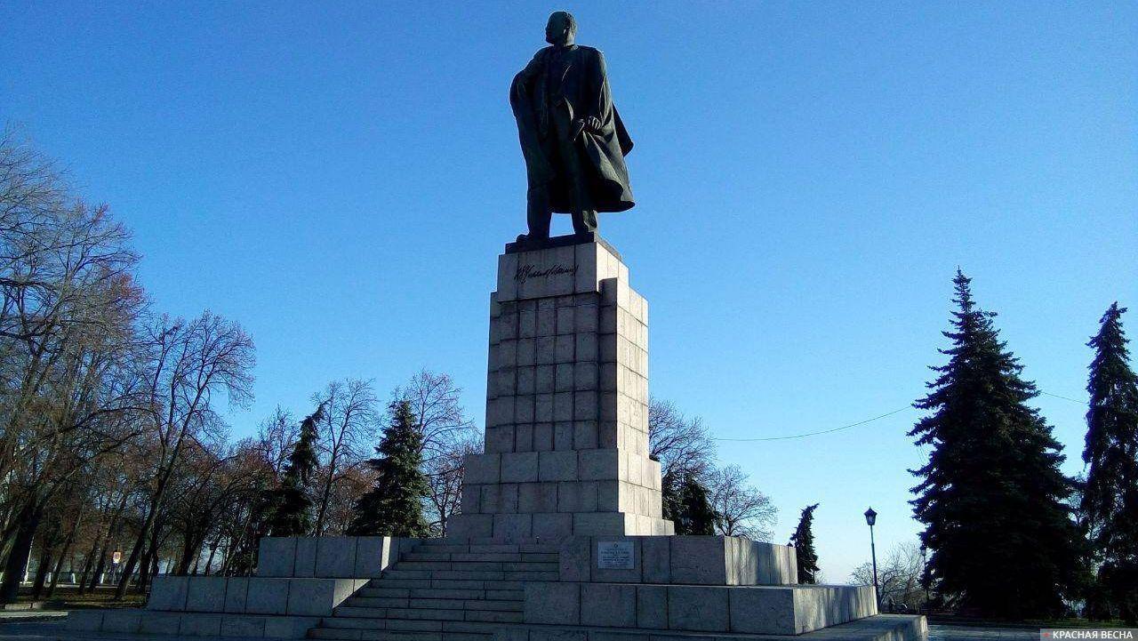 Площадь Ленина. Памятник Ленину. Ульяновск 16.11.2017
