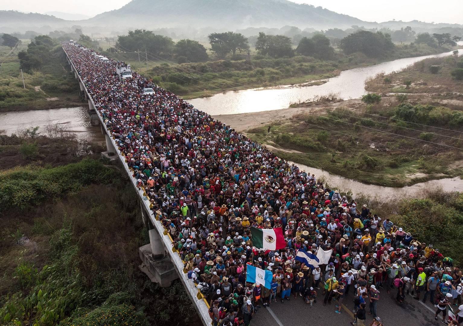«Караван мигрантов» на юге Мексики. Октябрь 2018 г.