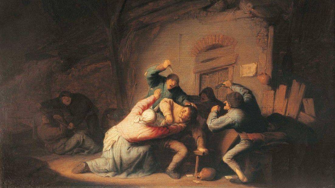 Адриан ван Остаде. Драка. 1635