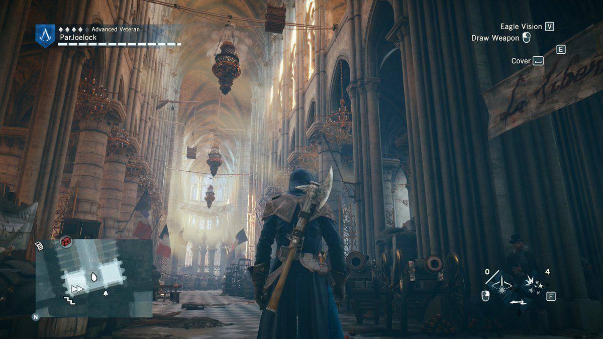 Кадр из квеста Assassin's Creed Unity