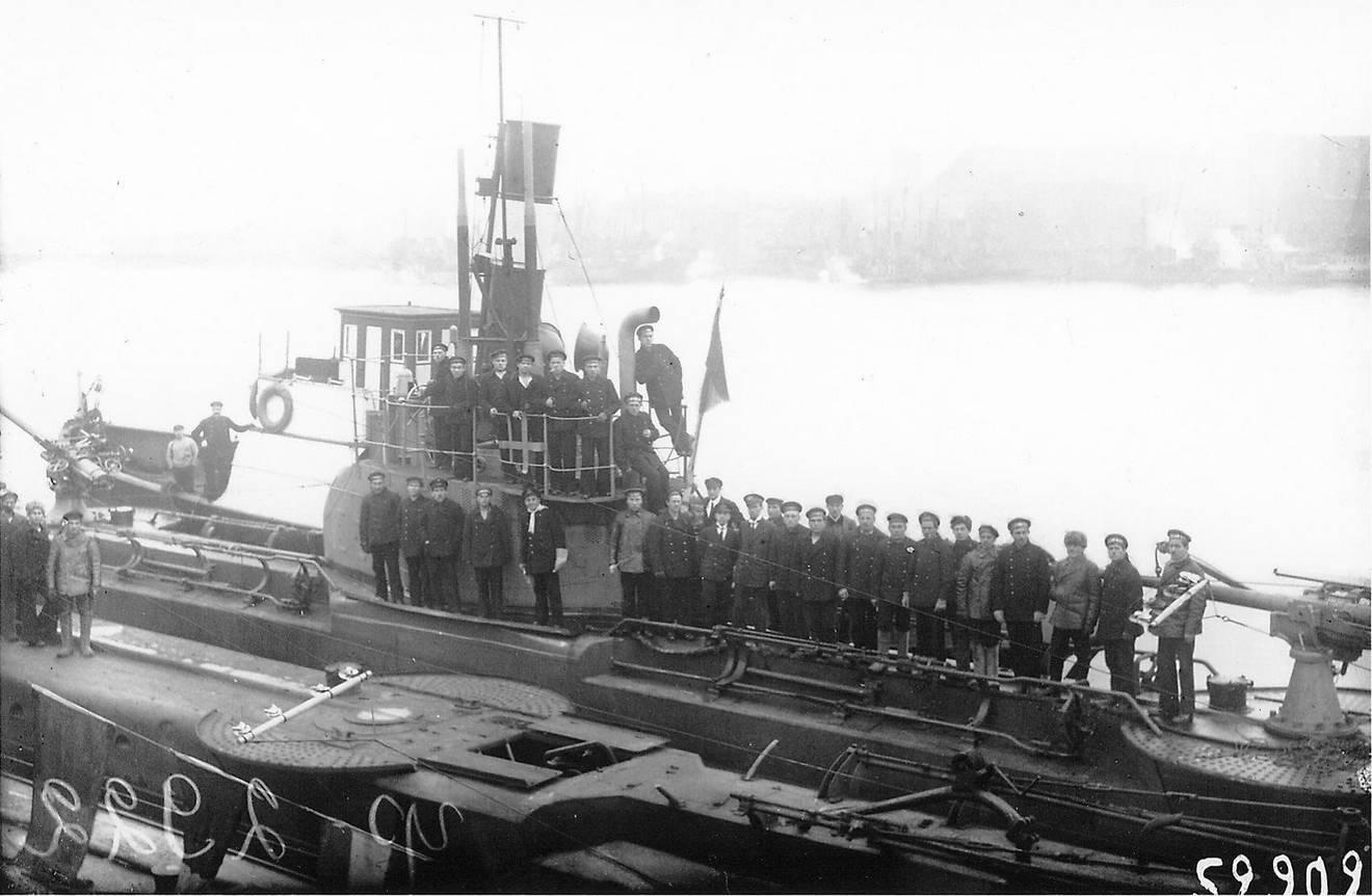Личный состав ПЛ типа «Барс», Первая мировая война