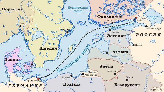 Карта «Cеверный поток»