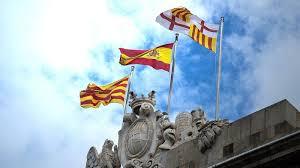 Флаги Каталонии и Испании, Барселона