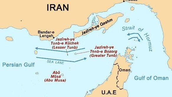 Карта Ормузского пролива