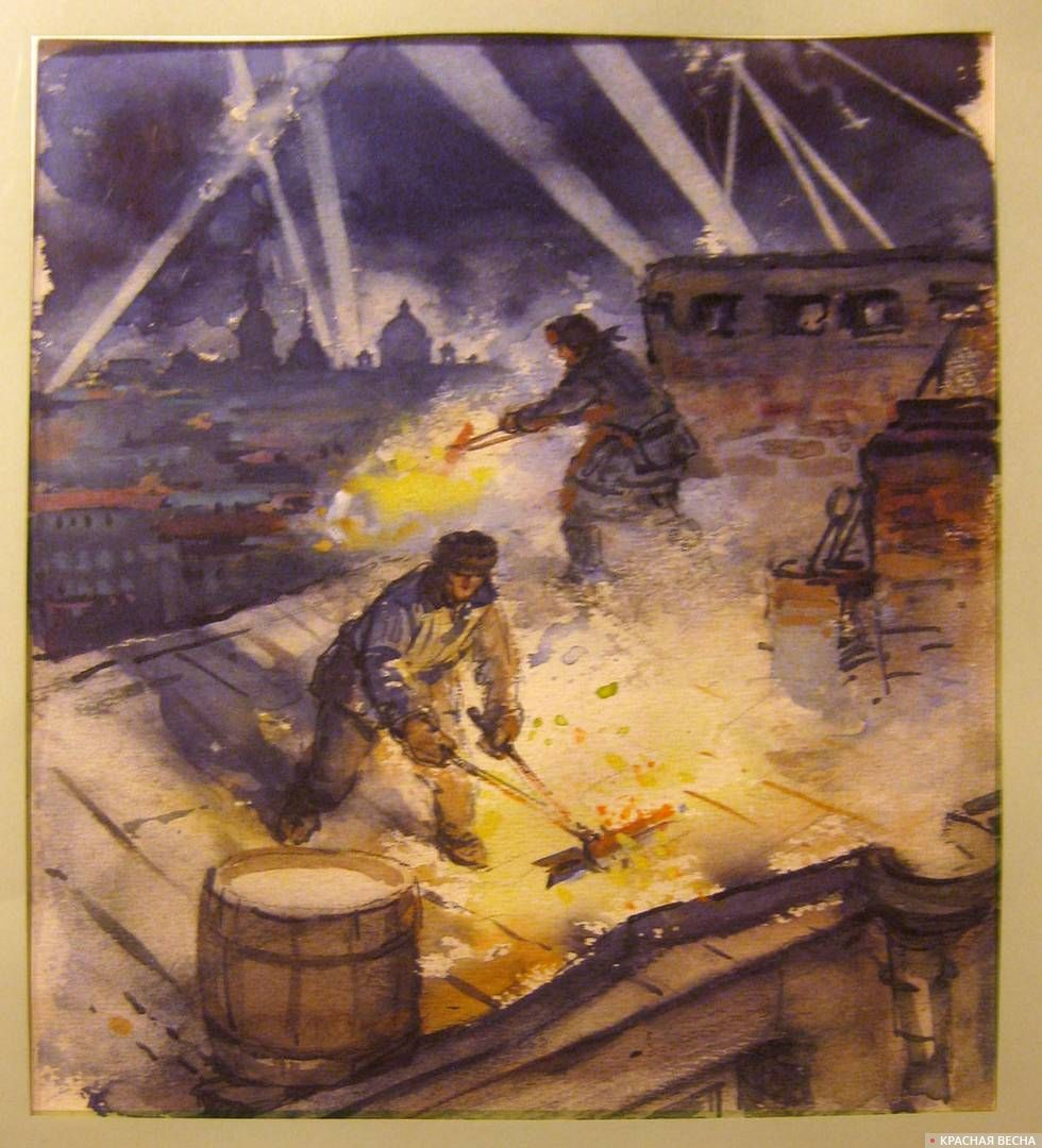Иллюстрация к книге В.Воскобойникова «Василий Васильевич» (1977 г.). Шевченко Владимир Гаврилович (1922–2008)