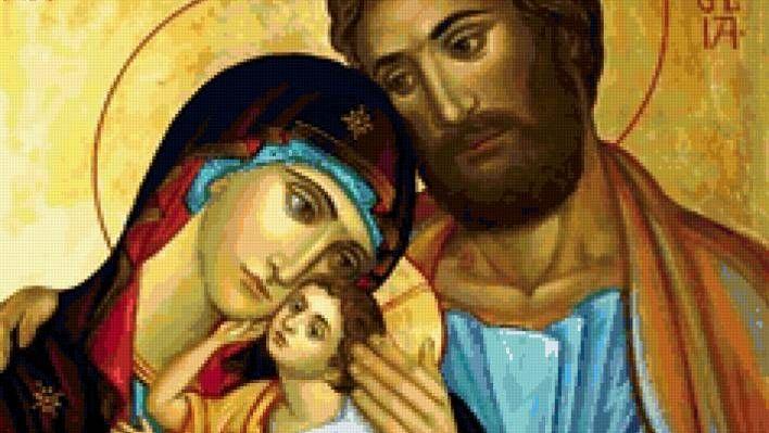 Икона Святое семейство (фрагмент)