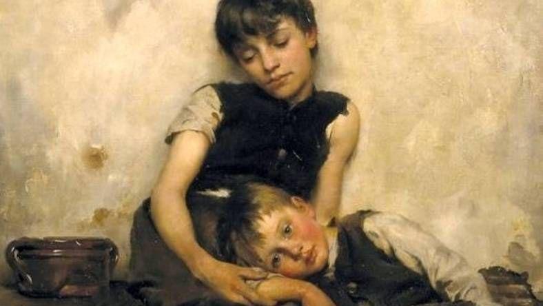 Томас Бенуа. Дети сироты. 1885