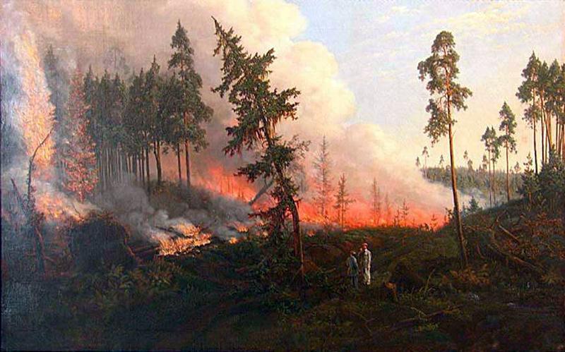 Викентий Дмоховский. Лесной пожар (860