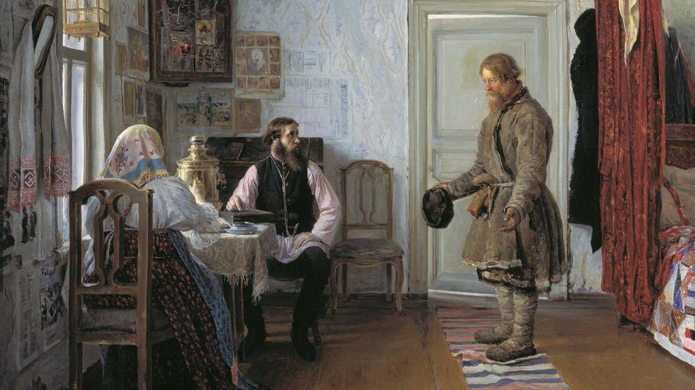 Богданов Иван. За расчетом. 1890.