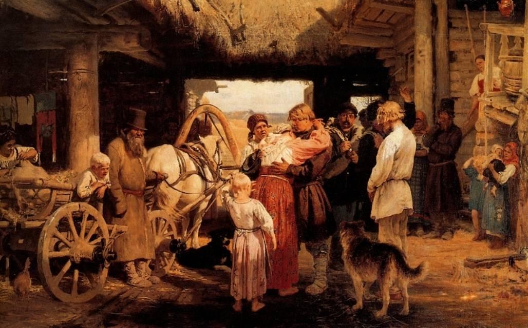 Илья Репин. Проводы новобранца. 1879