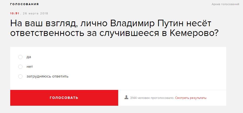 Голосование на сайте