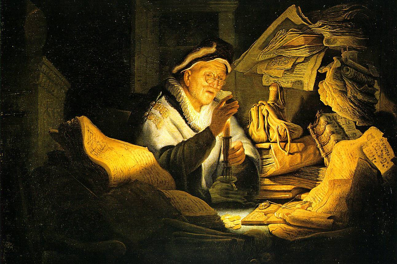 Рембрандт. Притча о богаче. 1627