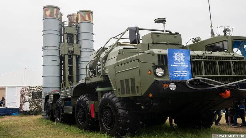 106. Пусковая установка ЗРС С-400 Триумф. МАКС Раменское. 22.07.2017