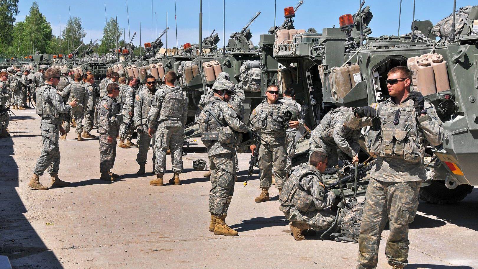 Американские солдаты в Германии