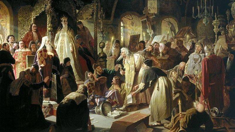 Василий Перов. Никита Пустосвят. Спор о вере. 1856
