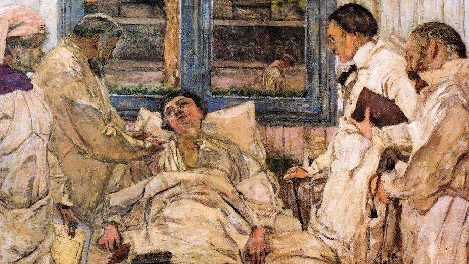 Жан Вюйар. Доктор Васкес и его помощник доктор Парву в госпитале де ла Пейе. 1921