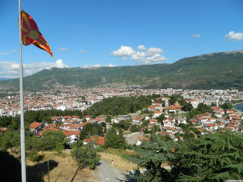 Панорама. Охрид. Македония