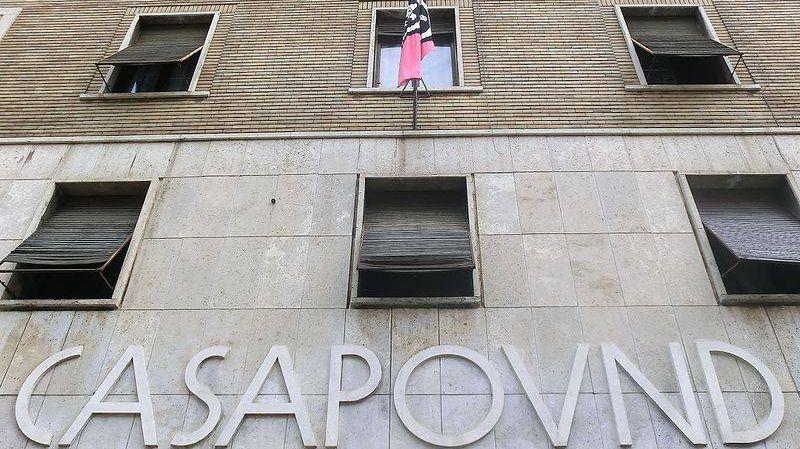 Бывший дворец правительства, занят в 2003 г. CasaPound. Рим.