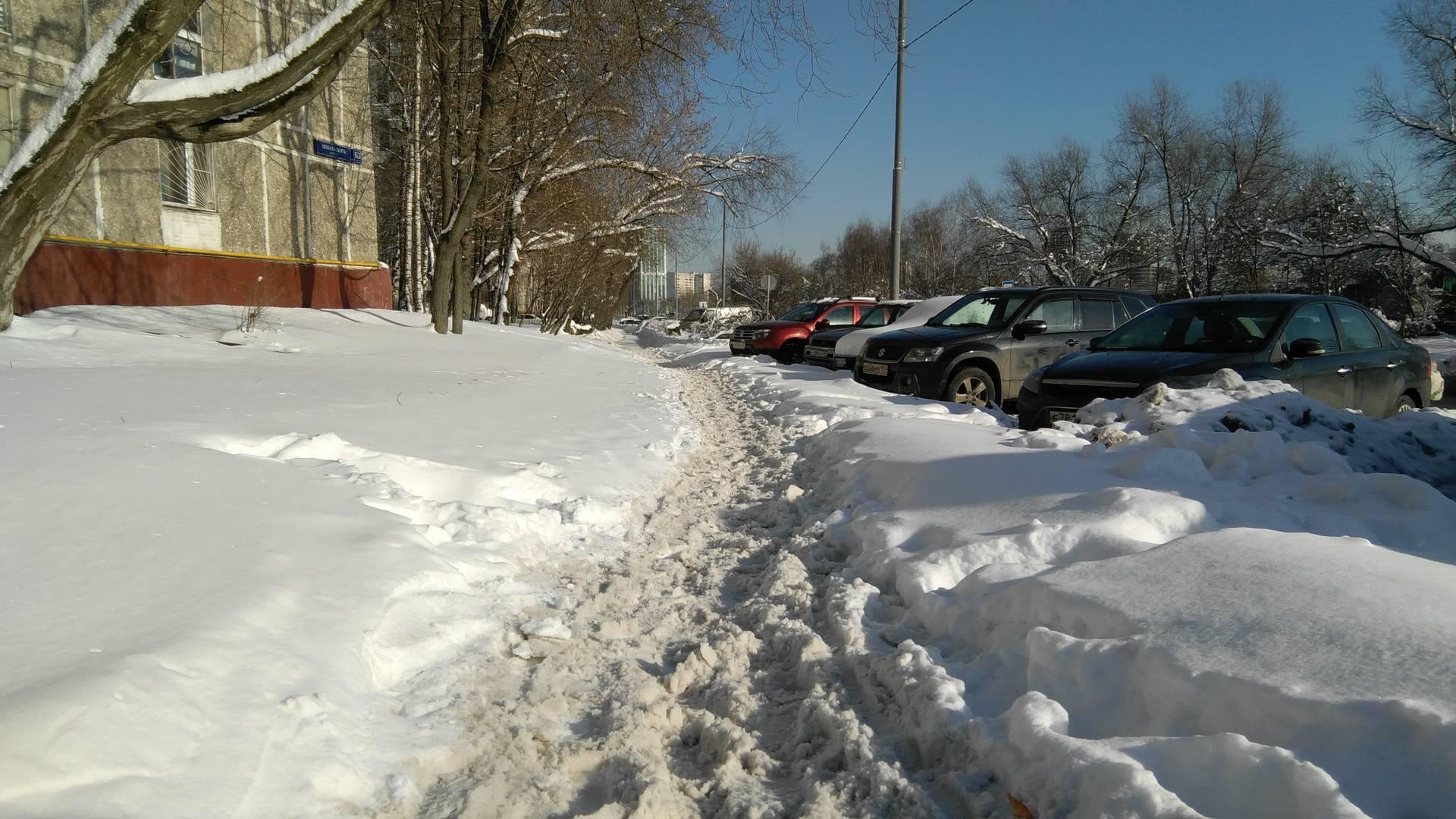Москва, проезд Шокальского, тротуар