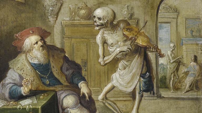 Франс Франкен Младший. Смерть, играющая на скрипке. 1625