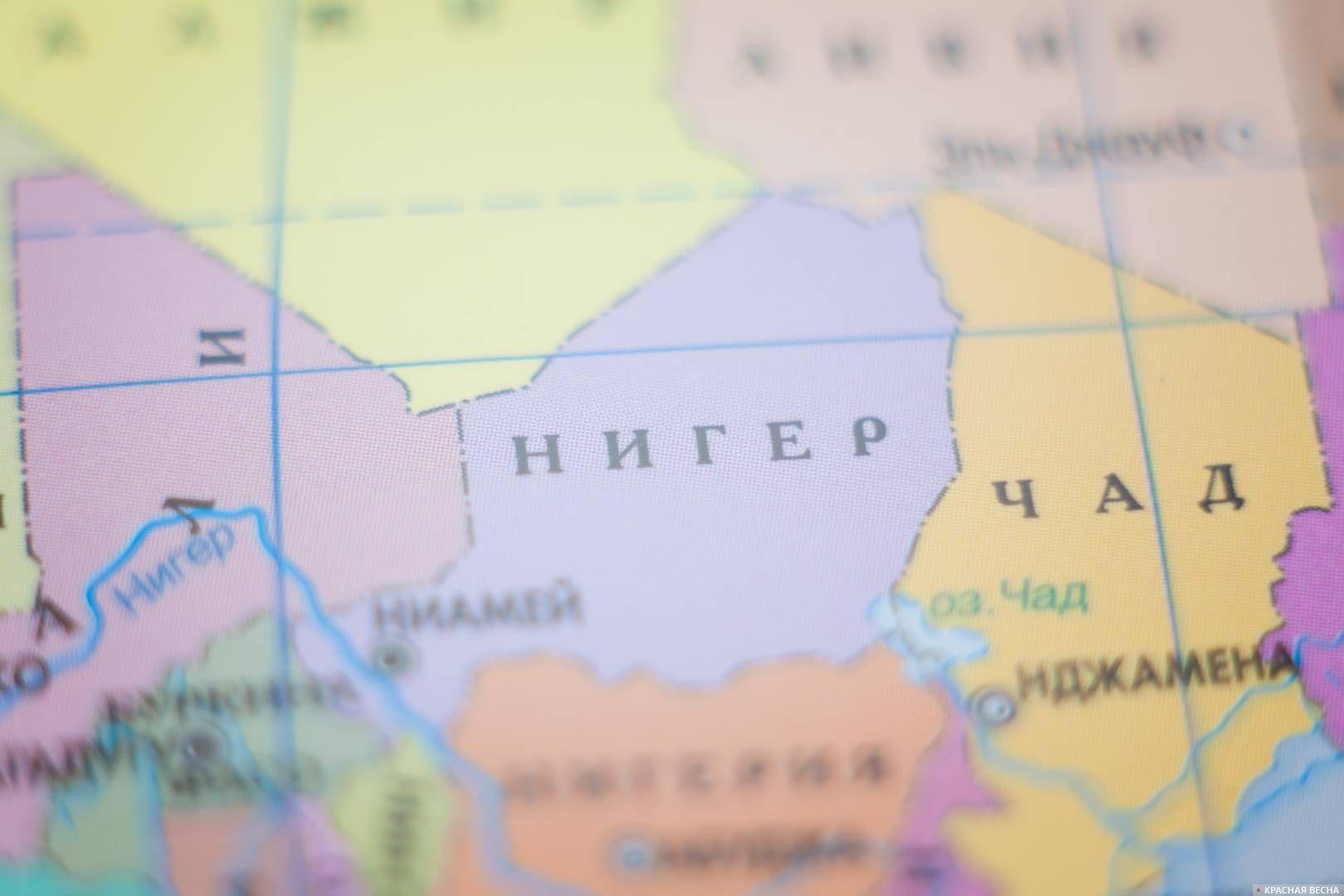 Нигер карта
